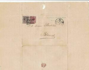 Spain 19th centuary stamps cover Ref 8421