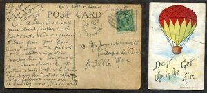 267 - PLANTAGENET Ontario Parry Sound 1908 Broken Circle on Postcard