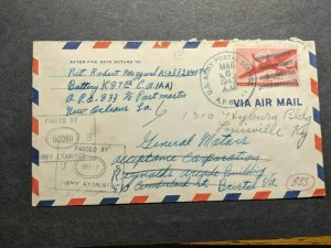 APO 833 PARAISO, PEDROMIGUEL, CANAL ZONE 1943 WWII Army Cover 87th CA (AA)