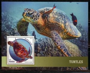 SIERRA LEONE 2019  TURTLES  SOUVENIR SHEET MINT NEVER HINGED
