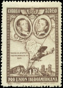 Spain Scott #C55a Mint Hinged  Brown Violet