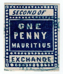 (I.B) Mauritius Revenue : Bill of Exchange 1d (Second)