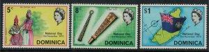 Dominica #301-3a* NH  National Day Set & Souvenir Sheet  CV $2.15