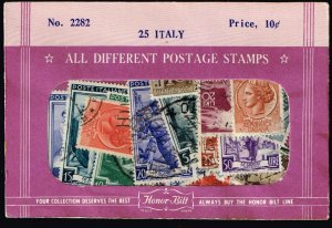 ITALY STAMPS USED STAMP SELLING PACKET