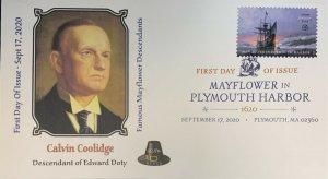 AFDCS 5524 Mayflower Plymouth Harbor Calvin Coolidge Descendant Edward Doty DCP