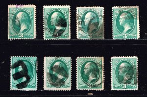 US STAMP 3¢ 19TH OLD USED STAMPS  COLLECTION LOT #1