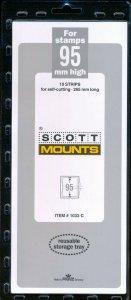 Prinz Scott Stamp Mount 95/265 mm - CLEAR (Pack of 10) (95x265 95mm) STRIP 1033C