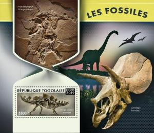 Z08 IMPERF TG190102b Togo 2019 Fossils MNH ** Postfrisch