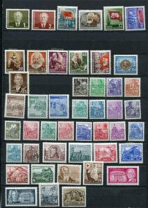 Germany 1953 Mi 342-422 MH Almost Complete Year+2 Imperf Blocks MNH 2493