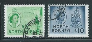 North Borneo 274-5 Net Fishing and Arms part set Used (z2)