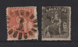 Barbados a pair of used perf 15.5 old Barbados