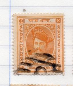 Indore Indian States 1889 Early Issue Fine Used 1/4a. 207658
