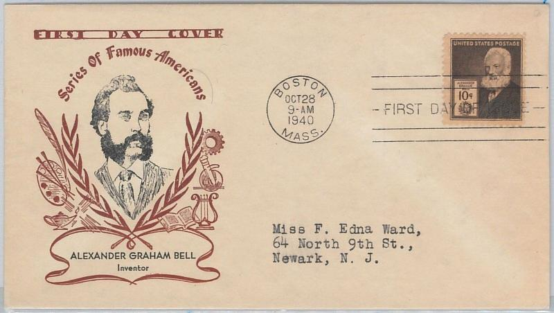 52526 - UNITED STATES - CACHET FDC COVER: Scott # 893 A. GRAHAM BELL  Science
