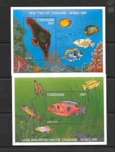 FISH - TANZANIA #533-4  MNH