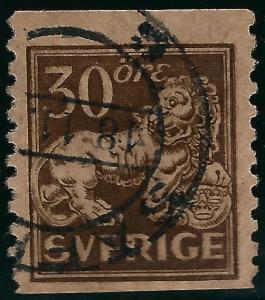 Sweden #125 Lion Coil Used VF SC$16...Regal Stamp!