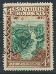 Southern Rhodesia  SG 58  SC# 61  Used Golden Jubilee BSAC  see scans
