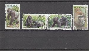 Nigeria  Scott#  802-5  MNH  (2008 Cross River Gorillas)