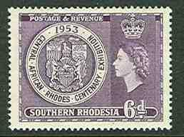 So. Rhodesia # 79  Rhodes Centenary (1)  Unused  VLH