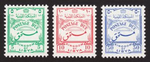LIBYA KINGDOM 1952 POSTAGE DUE MI #14-16 MNH-OG
