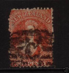 NEW ZEALAND FFQ 1d RED SG68 PERF 13 STAR WMK CHALON