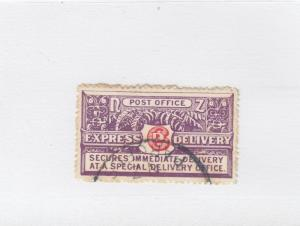 NEW ZEALAND # E1 VF-LIGHT USED EXPRESS DELIVERY CAT VALUE $40