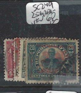 HAITI  (P1606B)    SC 249, 256, 259-60   VFU