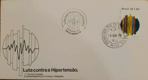A) 1978, BRAZIL, FIGHT AGAINST HYPERTENSION, FIRST DAY COVER, WORLD HEALTH DAY