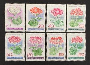 Romania 1968 #2019-26(8), Flowers, MNH.