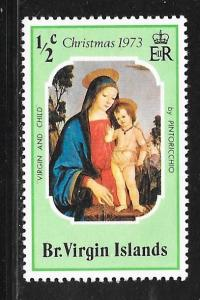 British Virgin Islands 262: 1/2c Virgin and child, MH, VF