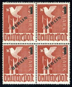 GERMANY WEST BERLIN SC# 9N67 MI# 67 MINT NEVER HINGED BLOCK OF FOUR AS SHOWN