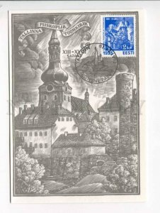 414242 ESTONIA 1993 year Tallinn special cancellation postcard