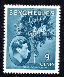 Seychelles: 1941 KGVI 9c. SG 138a mint