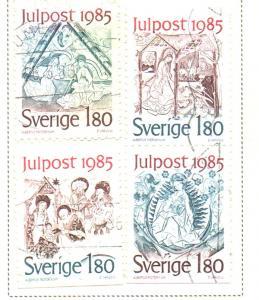 Sweden Sc  1558-61 1985 Christmas stamp set used