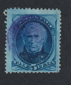 Scott 179, Used, 5c Taylor, Blue Cancel