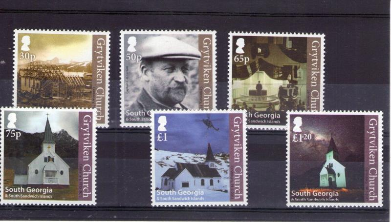 South Georgia Churches Centenary QEII set issued  2013 Superb MNH