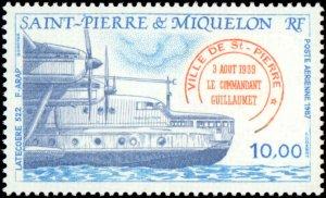 St. Pierre & Miquelon #C61-C62, Complete Set(2), 1987, Aviation - Airplanes, ...