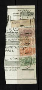 Libya SC# Q10, Q17, Q20, & Q21 Used Halds on Piece - S2338