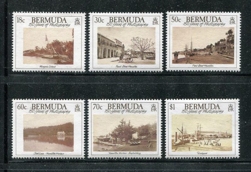 Bermuda 590-593 MNH Paintings 1990 by Ross Sterling Turner Ogden Bush x18444