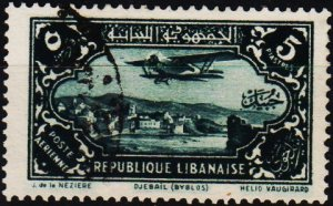 Lebanon. 1930 5p S.G.185 Fine Used