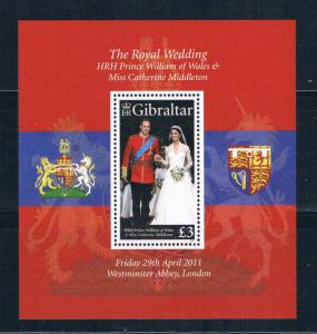 Gibraltar 1283 MNH SS Marriage of Prince William 2011 (G0331)+