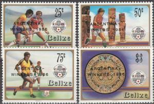 Belize #828-31   MNH CV $10.35