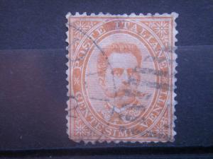 ITALY, 1879, used 20c , King Humbert I, Scott 47