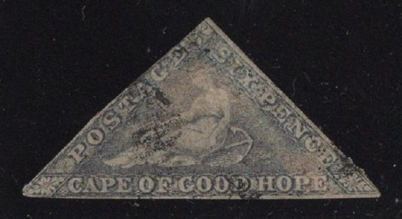 Cape of Good Hope #5b Grayish Lilac on Bluish Paper - Used - Cat:$540.00
