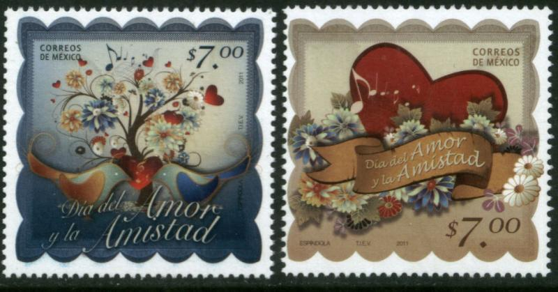 MEXICO 2730-2731 St, Valentine's Day. MINT, NH. VF.