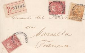 1902, Lima, Peru to Marseille, France, Registered, See Remark (11431)