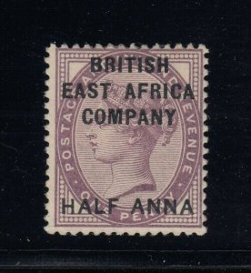British East Africa, Sc 1 (SG 1), MHR, light bend along bottom