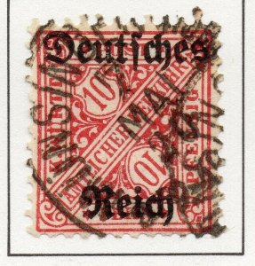 Germany 1920 Early Issue Fine Used 10pf. Optd NW-100747