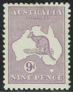 AUSTRALIA 1915 KANGAROO 9D DIE II 3RD WMK