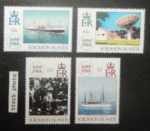 Solomon Islands 627-30. 1988 Lloyds of London, NH
