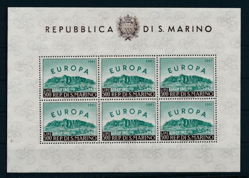 [73812] San Marino 1961 Europe Mini Sheet  MNH